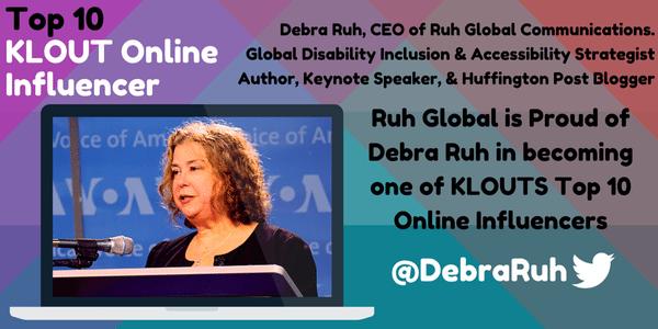 Debra Ruh is a Top Ten Klout Online Influencer