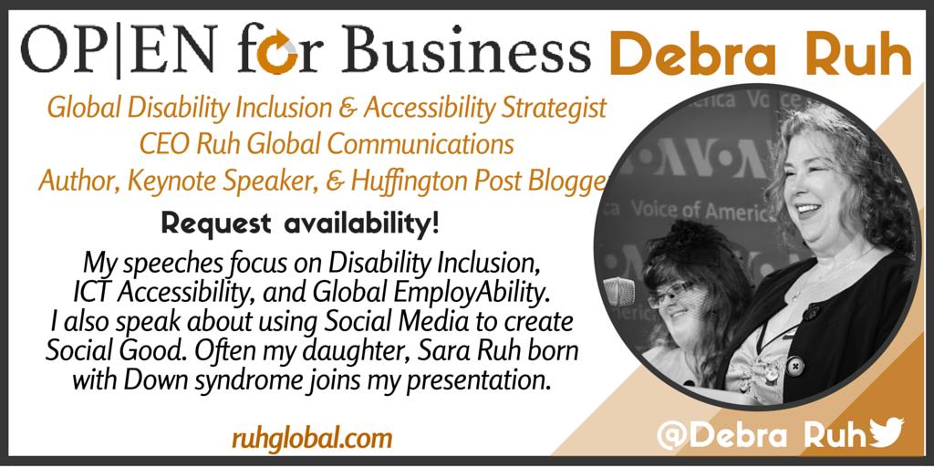 Open for Business. Contact Debra Ruh