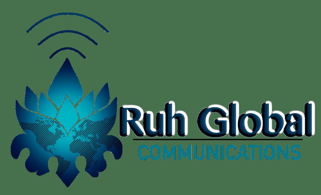 Ruh Global Communications Logo designed by Emily Ha