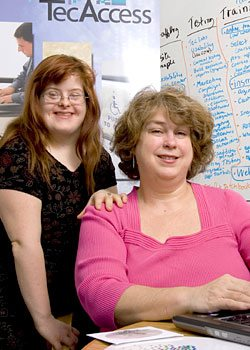 Debra Ruh, Founder of TecAccess and CEO & Founder of Ruh Global with her daughter and inspiration, Sara Ruh who was born with Down Syndrome