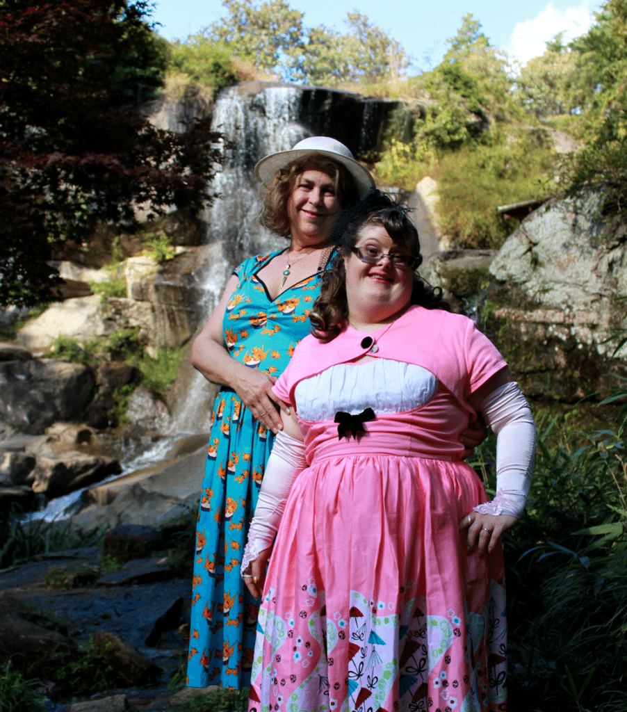 Photographed and Styled by Emily Ha. Both wearing Pinup Girl Clothing, A Brand that celebrates Diversity and Inclusion